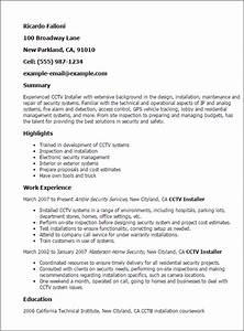 Cctv installer resume template best design tips for Cover letter for drafting position
