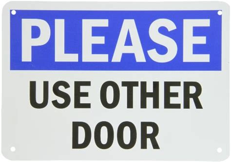 use other door smartsign plastic sign legend quot use other door