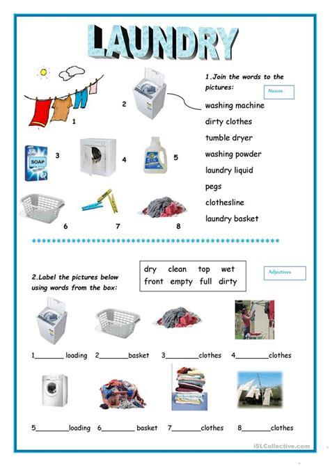 laundry worksheet  esl printable worksheets