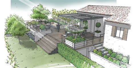 bureau poste marseille jardin sur terrasse semi enterrée lamanon 13