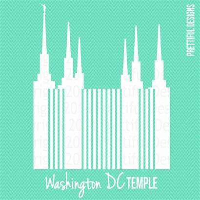Temple Lds Dc Washington Silhouette Mormon Clip