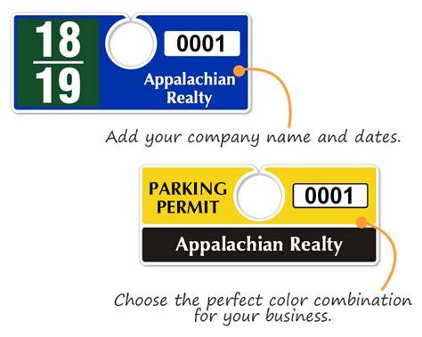 Horizontal Hanging Parking Permits