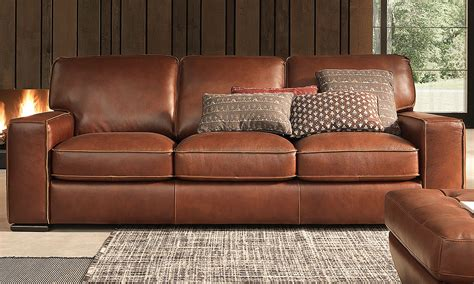 Haynes Furniture Natuzzi Campbell Topgrain Leather Sofa