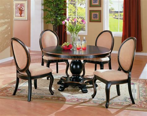 two tone round dining table set two tone elegant dining room set with round table