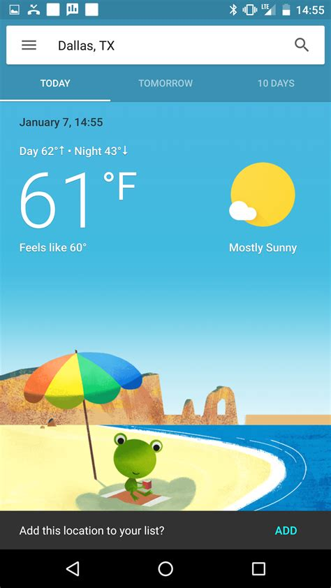 google weather app wetter today interface buntes getestet wird seems testing usa