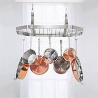 pot and pan hanging rack Cuisinart Octagonal Hanging Cookware Rack-CRC29B - The ...