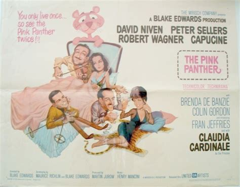 The Pink Panther Half Sheet Poster. Peter Sellers