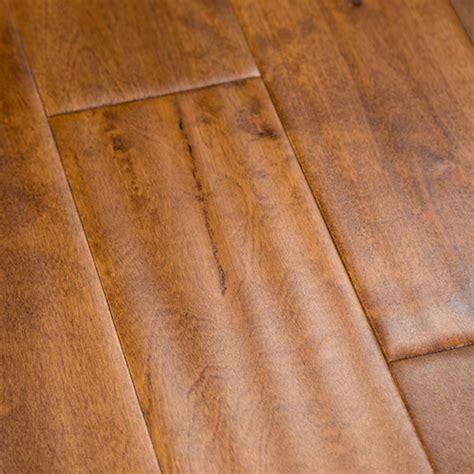 "Birch Honey Hardwood Flooring Handscraped BCD 4.7"""