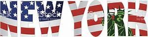 New York Schriftzug : new york schriftzug kontur uns flaggestatue of libertyillustration stock vektor art und mehr ~ Frokenaadalensverden.com Haus und Dekorationen