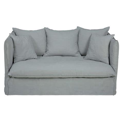 canapé gris 2 places canapé 2 places en lavé gris clair louvre maisons du