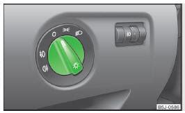 skoda fabia lights lights and visibility using the system skoda fabia owners manual