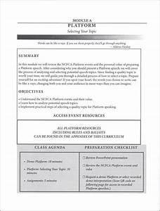 Ncfca Comprehensive Guide To Speech  Coach U0026 39 S Manual