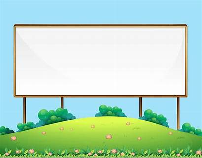 Blank Board Sign Wooden Nature Vector Graphics