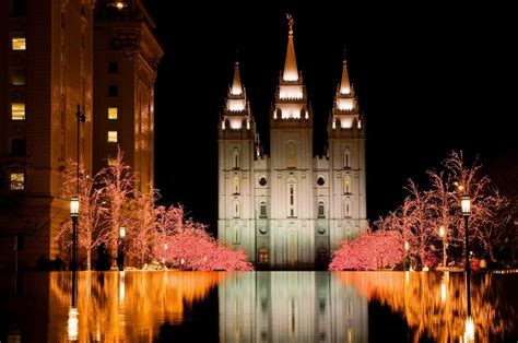 salt lake city temple lights
