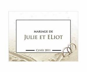 Etiquette Champagne Mariage : annoncez votre mariage d 39 un faire part ~ Teatrodelosmanantiales.com Idées de Décoration