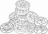Coloring Donut Pages Sweet Colorful Coloringpagesfortoddlers Adult Donuts Yummy Sheets Printable Pizza Detailed Cartoon Space sketch template
