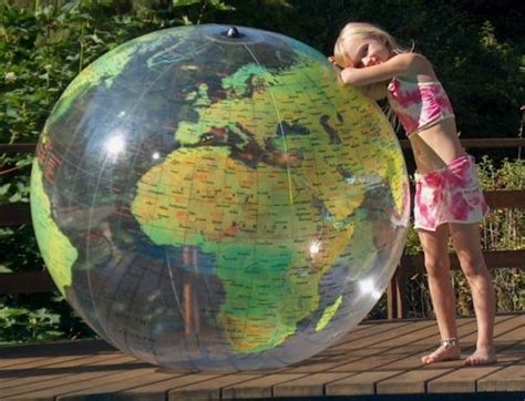 inflatable globe world beach ball earth map atlas