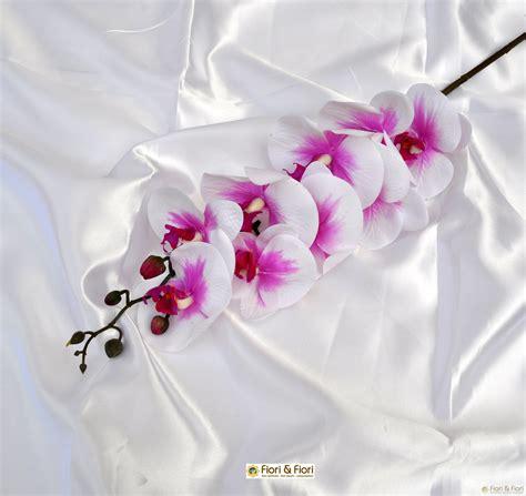 fiori artificiali real touch fiore artificiale phalaenopsis real touch fucsia per