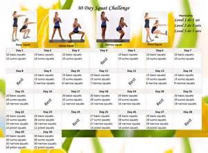 30-Day Squat Challenge Calendar