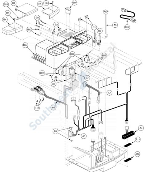 sc340 legend 4 wheel replacement parts wiring 187 electronics assembly rear tray gen3 pt2