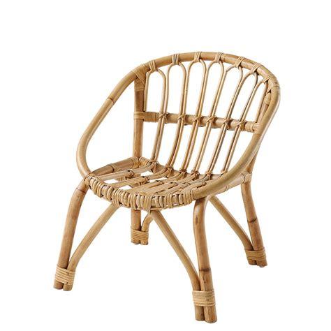chaise enfant en rotin plume maisons du monde