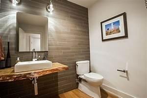 Plan Vasque Bois Brut : plan vasque bois brut dans la salle de toilette osez le style live edge salle de toilette ~ Teatrodelosmanantiales.com Idées de Décoration