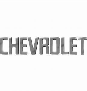 Tailgate letters chr chevy fl americanclassiccom for Chevy chrome letters