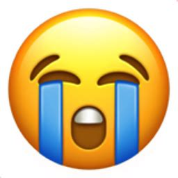 loudly crying face emoji ufd