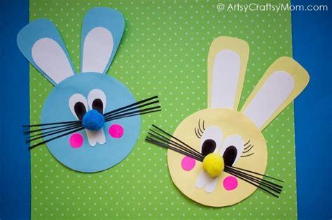 easy easter bunny paper craft artsy craftsy mom
