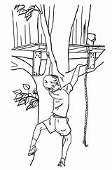 Coloring Treehouse Climbing Bestcoloringpagesforkids Sheets sketch template