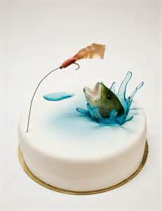 fisherman cake topper fishing cakes on fishing birthday cakes