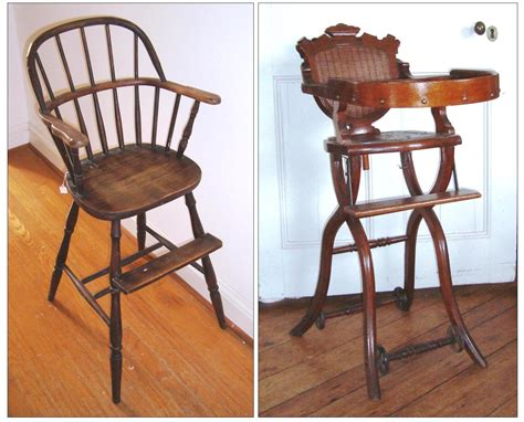 Infant High Chairs, Late 19th Century  A Fine Collection