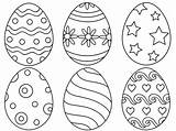 Easter Egg Coloring Eggs Printable Designs Places Palette sketch template
