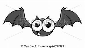 EPS Vectors of Funny Halloween Bat Character - Cartoon ...