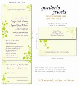 eco friendly wedding invitations garden39s jewels 100 With all in one wedding invitations recycled
