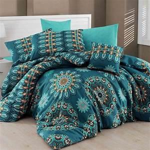 Parure De Lit Bleu : nazenin home parure de lit bleu brandalley ~ Teatrodelosmanantiales.com Idées de Décoration