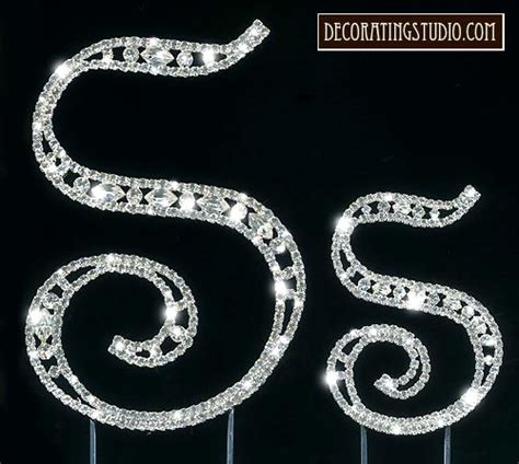 crystal marquise cut monogram cake topper initial