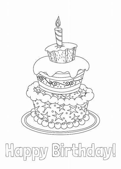 Birthday Printable Cards Coloring Easy Homemade Card