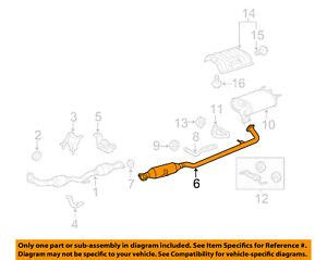 Toyota Oem Camry Exhaust System Center Pipe