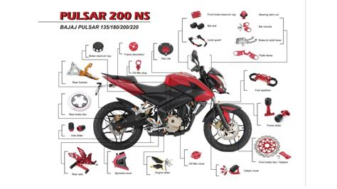 Motorcycle Products For Bajaj Pulsar 135 180 220 200ns