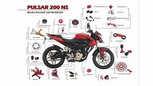 Motorcycle Products For Bajaj Pulsar 135 180 220 200ns Accessories And Parts