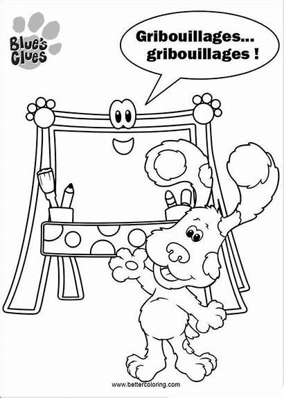 Clues Coloring Pages Painting Blues Printable Coloriage