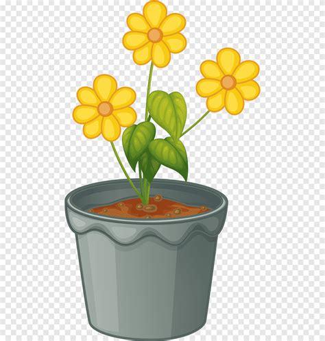 ดอกไม้, ภาพวาด, การ์ตูน, กระถางดอกไม้, พืช, ไม้ตัดดอก, แจกัน, การ์ตูน, ตัดดอกไม้ png   PNGEgg