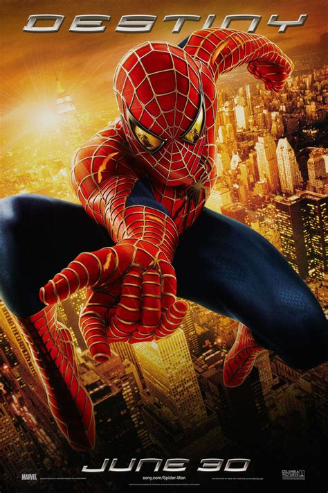 spider man   poster  sided original destiny