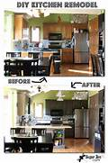 Painted Kitchen Cabinets Before And After Grey by DIY Kitchen Remodel The BIG REVEAL Sugar Bee Crafts