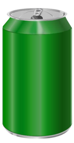 Vectorscape Green Soda Can Clip Art at Clker.com - vector ...