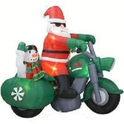 amazoncom gemmy santa claus  motorcycle  snowman