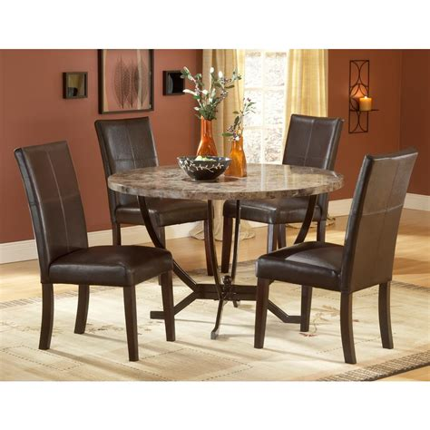 5 piece table set homelegance euro casual 5 piece round pedestal dining room