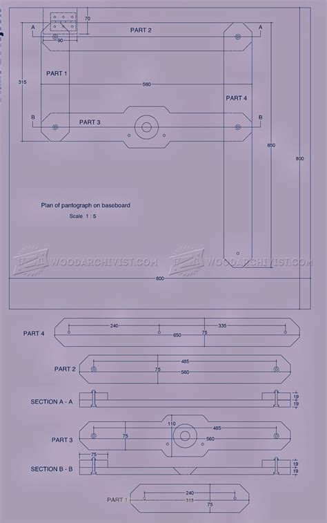router pantograph plans woodarchivist