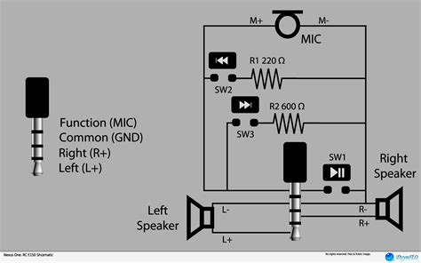 Stereo Headphone Jack Pinout With Wiring Diagram Also